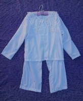 White Pajama Set- large