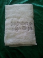 Bath towel commemorative