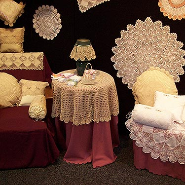 crocheted gifts - tablecloths,runners